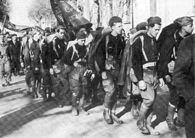 Desfile de los voluntarios de la Brigada Abraham Lincon